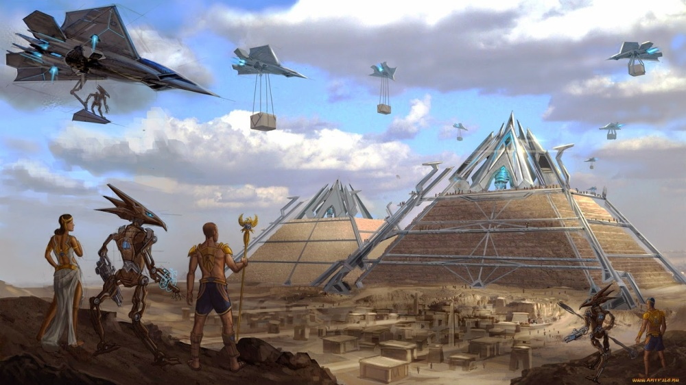 alien-builders-supervising-egyptian-giza-pyramid-construction
