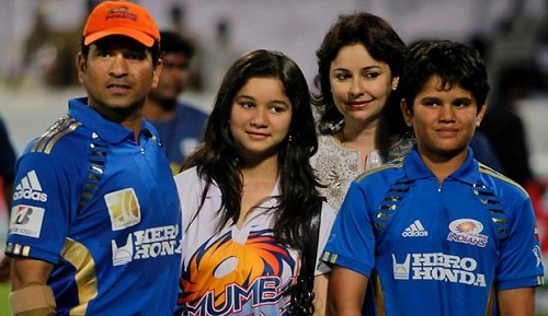 Sachin-Tendulkar-children-son-Arjun-and-daughter-Sara